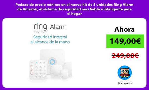 Pedazo de precio mínimo en el nuevo kit de 5 unidades Ring Alarm de Amazon, el sistema de seguridad mas fiable e inteligente para el hogar