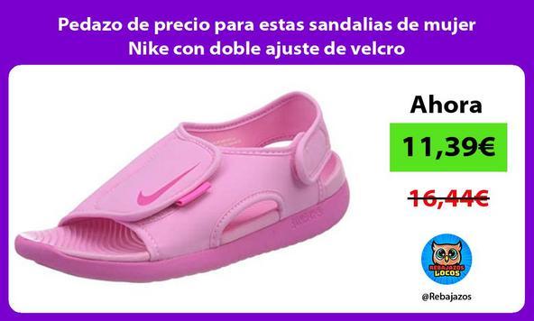 Pedazo de precio para estas sandalias de mujer Nike con doble ajuste de velcro