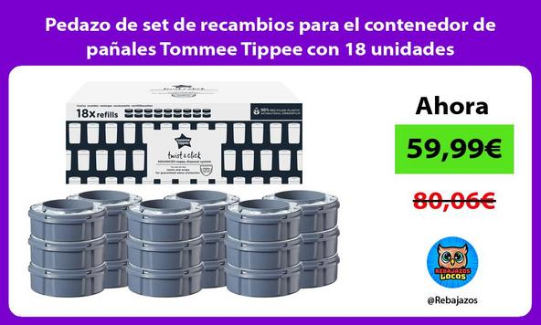 Pedazo de set de recambios para el contenedor de pañales Tommee Tippee con 18 unidades