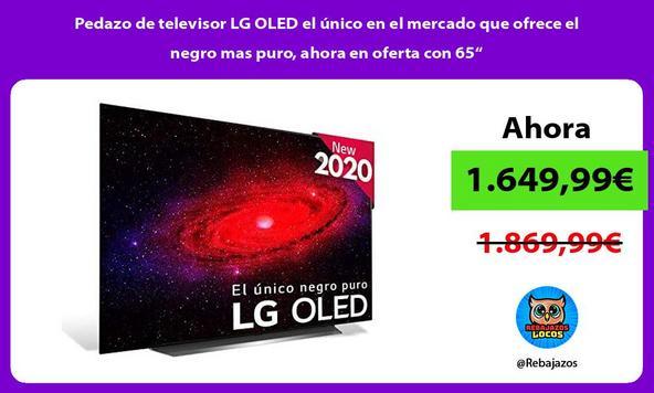 """Pedazo de televisor LG OLED el único en el mercado que ofrece el negro mas puro, ahora en oferta con 65"""""""