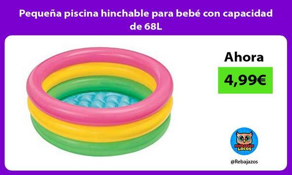 Pequeña piscina hinchable para bebé con capacidad de 68L