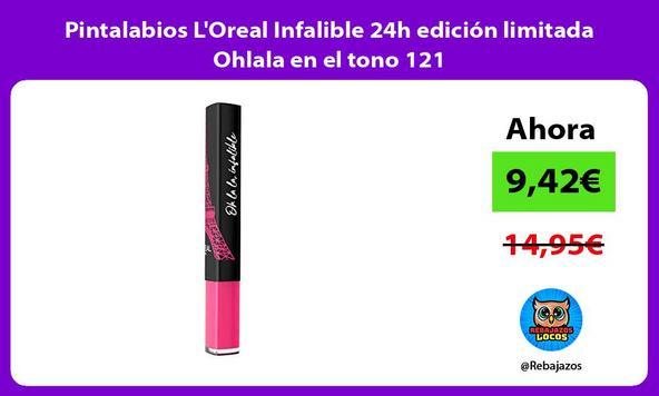 Pintalabios L'Oreal Infalible 24h edición limitada Ohlala en el tono 121