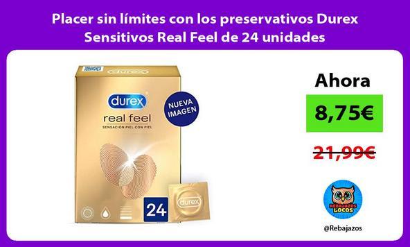 Placer sin límites con los preservativos Durex Sensitivos Real Feel de 24 unidades