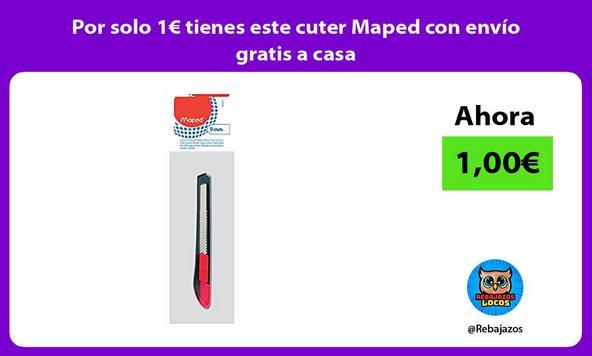 Por solo 1€ tienes este cuter Maped con envío gratis a casa