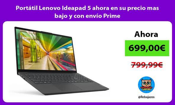 Portátil Lenovo Ideapad 5 ahora en su precio mas bajo y con envío Prime