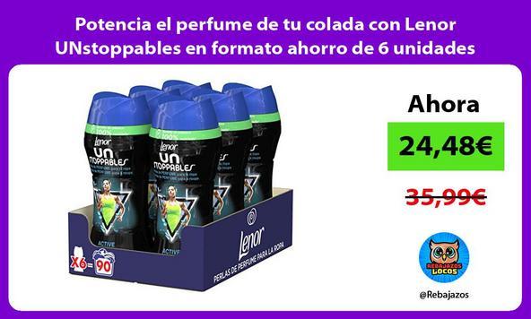 Potencia el perfume de tu colada con Lenor UNstoppables en formato ahorro de 6 unidades