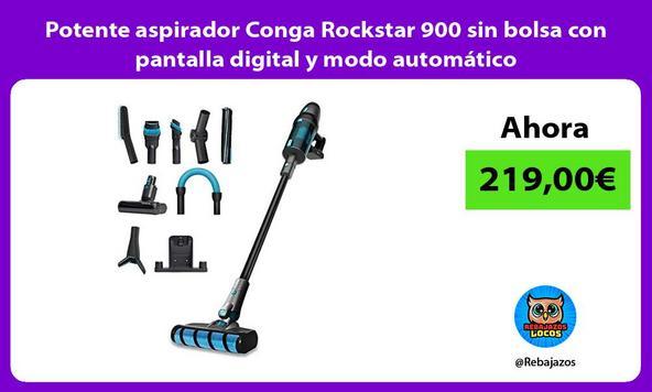 Potente aspirador Conga Rockstar 900 sin bolsa con pantalla digital y modo automático