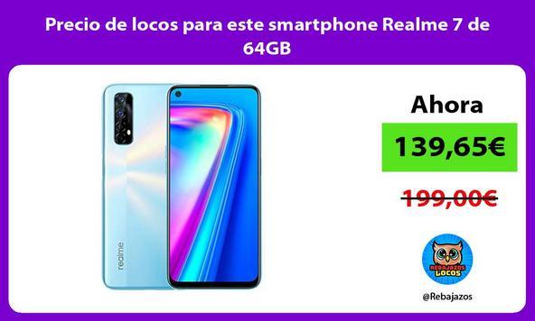 Precio de locos para este smartphone Realme 7 de 64GB
