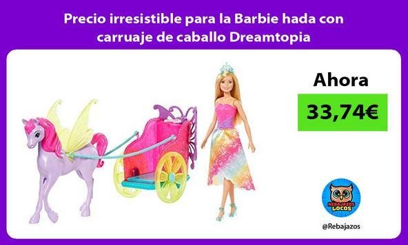 Precio irresistible para la Barbie hada con carruaje de caballo Dreamtopia