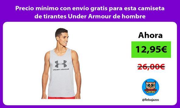 Precio mínimo con envío gratis para esta camiseta de tirantes Under Armour de hombre
