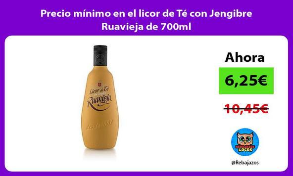 Precio mínimo en el licor de Té con Jengibre Ruavieja de 700ml