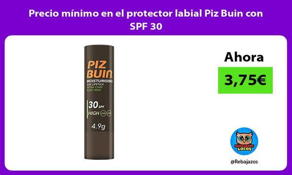 Precio mínimo en el protector labial Piz Buin con SPF 30