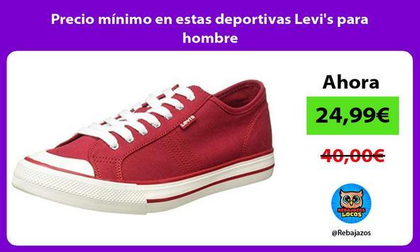 Precio mínimo en estas deportivas Levi's para hombre