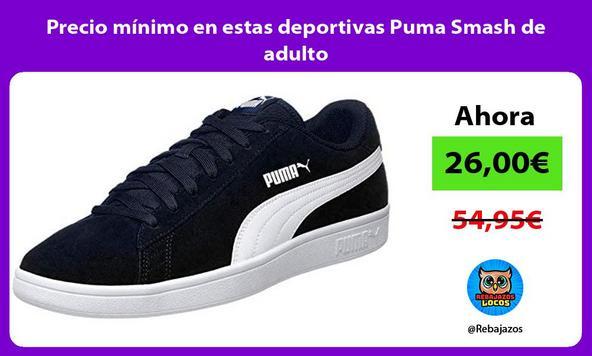 Precio mínimo en estas deportivas Puma Smash de adulto