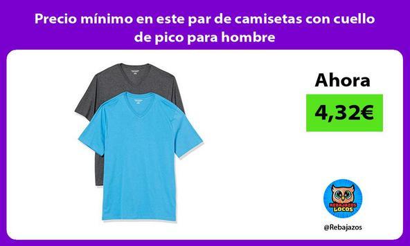 Precio mínimo en este par de camisetas con cuello de pico para hombre