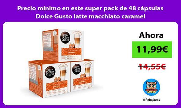 Precio mínimo en este super pack de 48 cápsulas Dolce Gusto latte macchiato caramel