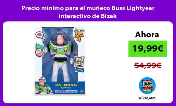 Precio mínimo para el muñeco Buss Lightyear interactivo de Bizak
