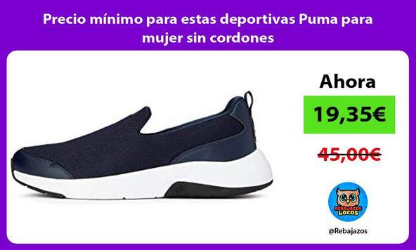 Precio mínimo para estas deportivas Puma para mujer sin cordones