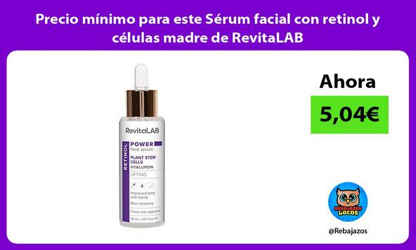 Precio mínimo para este Sérum facial con retinol y células madre de RevitaLAB