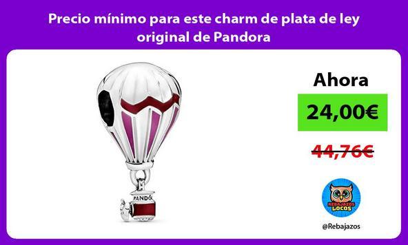 Precio mínimo para este charm de plata de ley original de Pandora