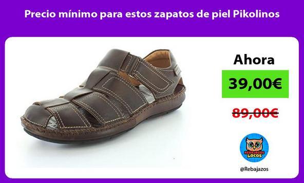Precio mínimo para estos zapatos de piel Pikolinos