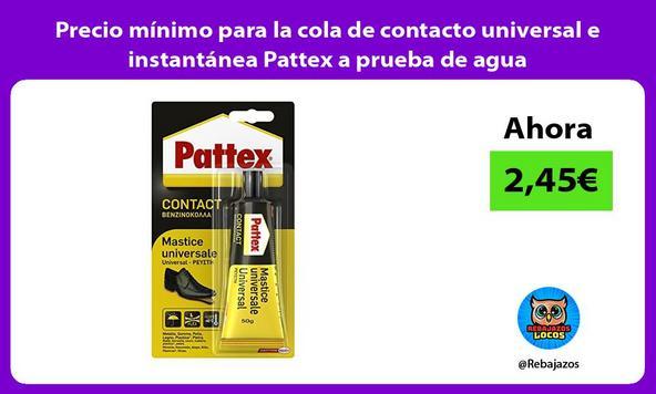 Precio mínimo para la cola de contacto universal e instantánea Pattex a prueba de agua