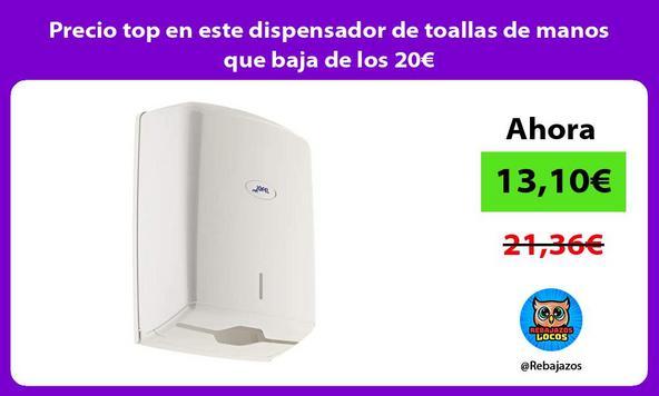 Precio top en este dispensador de toallas de manos que baja de los 20€