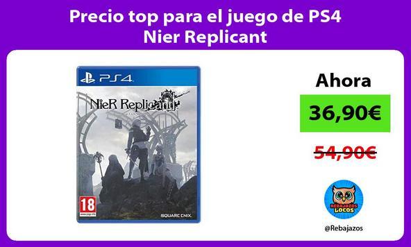 Precio top para el juego de PS4 Nier Replicant