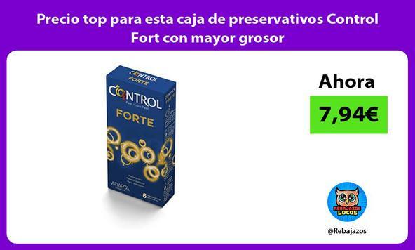 Precio top para esta caja de preservativos Control Fort con mayor grosor