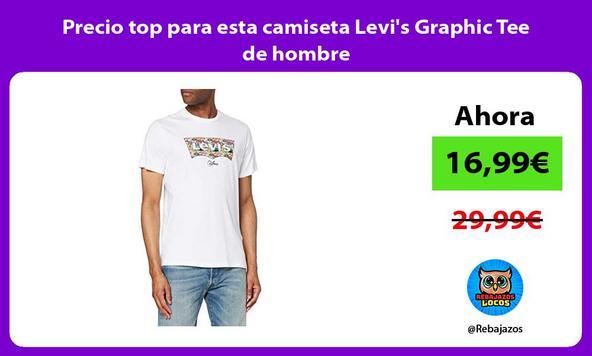 Precio top para esta camiseta Levi's Graphic Tee de hombre