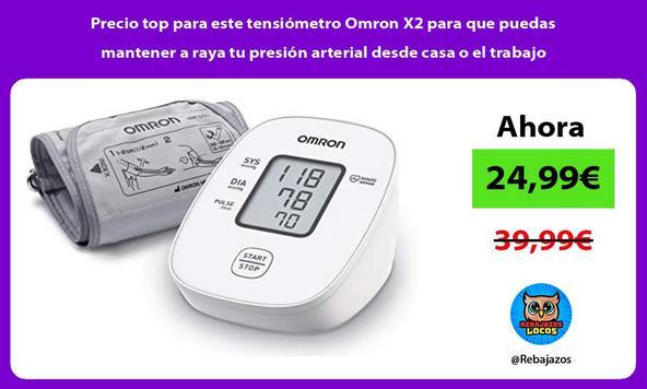 Precio top para este tensiómetro Omron X2 para que puedas mantener a raya tu presión arterial desde casa o el trabajo