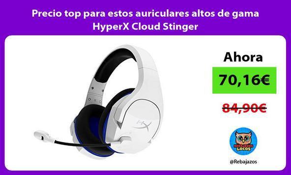 Precio top para estos auriculares altos de gama HyperX Cloud Stinger