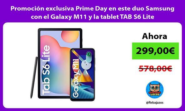 Promoción exclusiva Prime Day en este duo Samsung con el Galaxy M11 y la tablet TAB S6 Lite