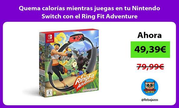 Quema calorías mientras juegas en tu Nintendo Switch con el Ring Fit Adventure