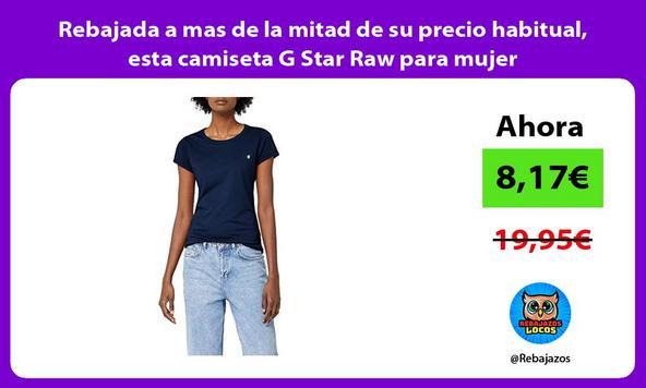 Rebajada a mas de la mitad de su precio habitual, esta camiseta G Star Raw para mujer