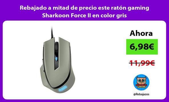 Rebajado a mitad de precio este ratón gaming Sharkoon Force II en color gris