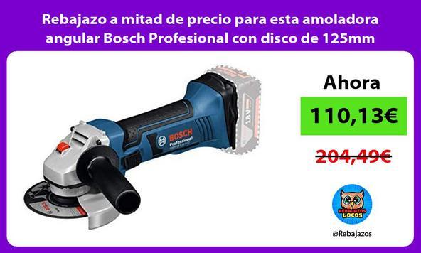 Rebajazo a mitad de precio para esta amoladora angular Bosch Profesional con disco de 125mm