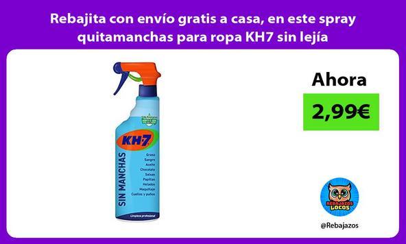 Rebajita con envío gratis a casa, en este spray quitamanchas para ropa KH7 sin lejía