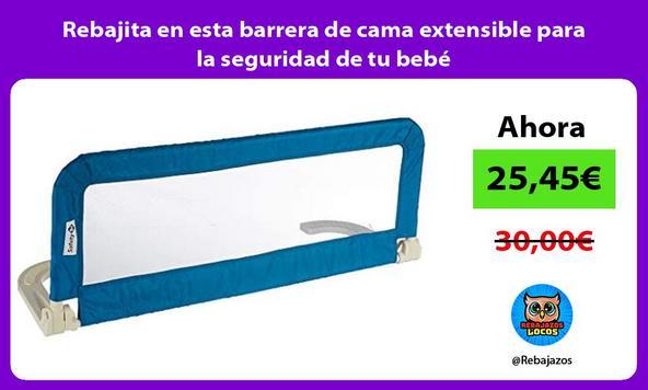 Rebajita en esta barrera de cama extensible para la seguridad de tu bebé