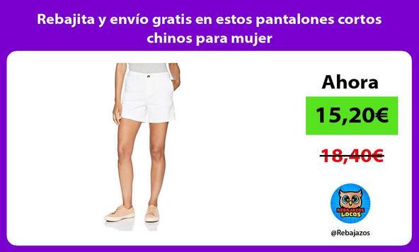 Rebajita y envío gratis en estos pantalones cortos chinos para mujer