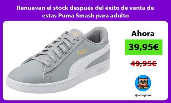 Renuevan el stock después del éxito de venta de estas Puma Smash para adulto