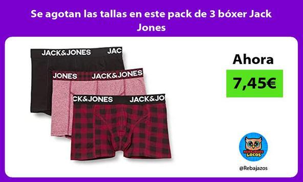 Se agotan las tallas en este pack de 3 bóxer Jack Jones