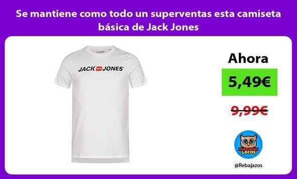 Se mantiene como todo un superventas esta camiseta básica de Jack Jones