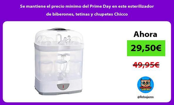 Se mantiene el precio mínimo del Prime Day en este esterilizador de biberones, tetinas y chupetes Chicco