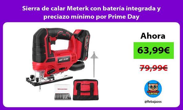 Sierra de calar Meterk con batería integrada y preciazo mínimo por Prime Day