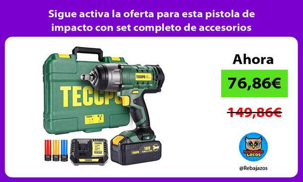 Sigue activa la oferta para esta pistola de impacto con set completo de accesorios