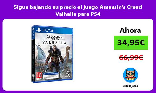 Sigue bajando su precio el juego Assassin's Creed Valhalla para PS4