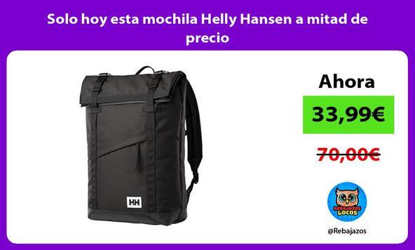 Solo hoy esta mochila Helly Hansen a mitad de precio
