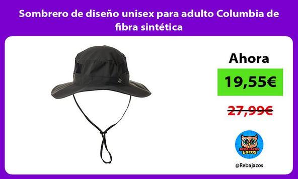 Sombrero de diseño unisex para adulto Columbia de fibra sintética