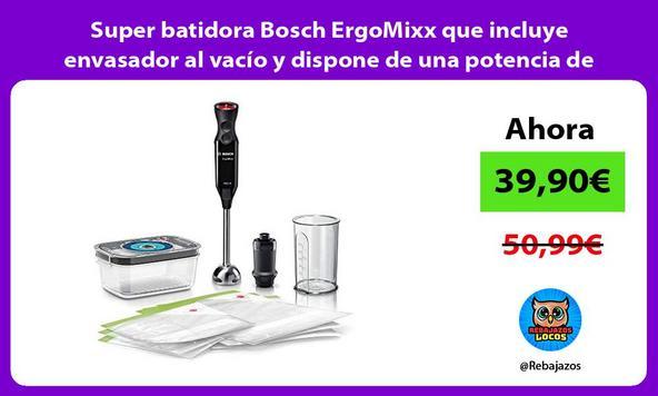 Super batidora Bosch ErgoMixx que incluye envasador al vacío y dispone de una potencia de 1000W